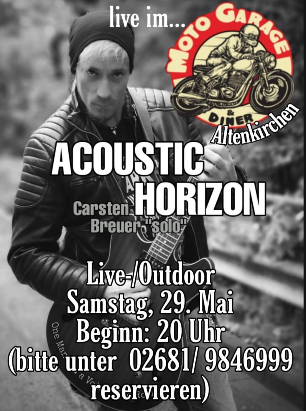 Accoustic Horizon mit Carsten Breuer live bei Moto Garage Diner in Altenkirchen